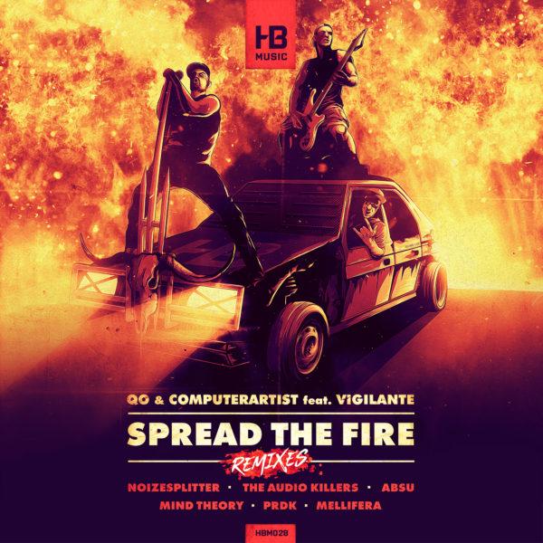 PREMIERE : QO & Computerartist feat. Vigilante – Spread The Fire (Mellifera remix)